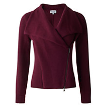 Buy Jigsaw Knitted Double Zip Biker Online at johnlewis.com