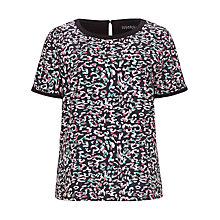 Buy Sugarhill Boutique Leopard Spot Top, Black Online at johnlewis.com