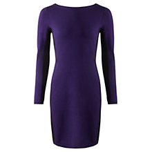 Buy Jigsaw Colourblock Knit Dress, Bilberry Online at johnlewis.com