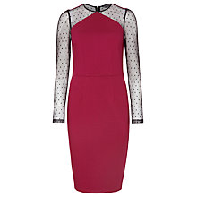 Buy Sugarhill Boutique Rosie Dress, Mulberry/Black Online at johnlewis.com