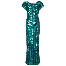 Buy Gina Bacconi Beaded Column Dress, Green Online at johnlewis.com
