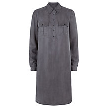 Buy Fenn Wright Manson Laura Cupro Shirt Dress, Storm Grey Online at johnlewis.com