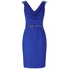 Buy Gina Bacconi Chiffon Cowl Neck Dress, Blue Online at johnlewis.com