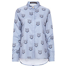 Buy Sugarhill Boutique Smart Tiger Blouse, Dusky Blue Online at johnlewis.com
