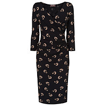 Buy Phase Eight Swan Print Dress, Black/Camel Online at johnlewis.com