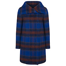 Buy French Connection Kazan High Neck Coat, Blue Multi Online at johnlewis.com