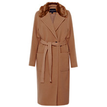 Buy French Connection Imperial Wool Blend Maxi Coat, Manuka Online at johnlewis.com