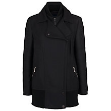 Buy French Connection Talia Wool Oversized Coat, Black Online at johnlewis.com