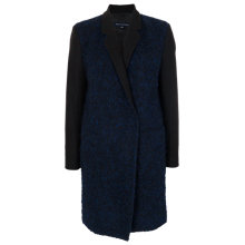 Buy French Connection Fitted Classic Coat, Blue/Black Online at johnlewis.com