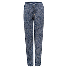 Buy East Paisley Printed Harem Trousers, Indigo Online at johnlewis.com