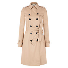 Buy Hobbs London Saskia Trench Coat, Natural Online at johnlewis.com