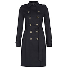 Buy Hobbs London Saskia Trench Coat, Navy Online at johnlewis.com