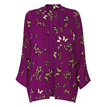 Buy Oasis Butterfly Kimono Jacket, Multi Purple Online at johnlewis.com