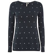 Buy White Stuff Hairy Heart Jumper, Smokey Green Online at johnlewis.com
