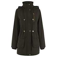 Buy Oasis Charlie Lightweight Parka Jacket, Khaki Online at johnlewis.com