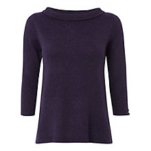 Buy White Stuff Fold Up Fitted Jumper, Purple Fable Online at johnlewis.com