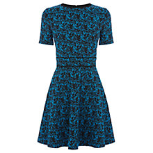 Buy Warehouse Patterned Jacquard Dress, Blue Pattern Online at johnlewis.com