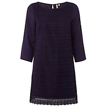 Buy White Stuff Tealight Lace Tunic, Purple Fable Online at johnlewis.com