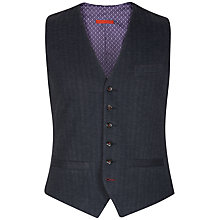 Buy Ted Baker Nylway Herringbone Waistcoat, Navy Online at johnlewis.com