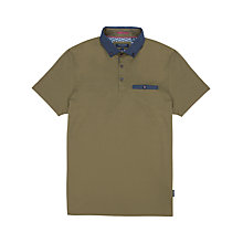 Buy Ted Baker Avariz Gros Grain Collar Polo Shirt Online at johnlewis.com