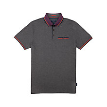 Buy Ted Baker Tirah Stripe Collar Polo Shirt, Charcoal Online at johnlewis.com