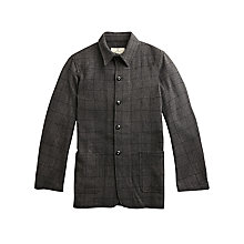 Buy Private White V.C. Windowpane Check Wool Shacket, Grey Online at johnlewis.com