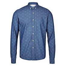 Buy HYMN Ian Christmas Denim Shirt, Blue Online at johnlewis.com