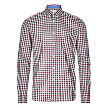 Buy HYMN Bale Marl Check Shirt, Grey/Red Online at johnlewis.com