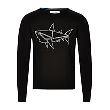 Buy HYMN George Intasia Shark Jumper, Black Online at johnlewis.com