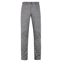 Buy HYMN Deniro Tapered Trousers, Charcoal Online at johnlewis.com