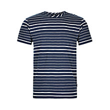 Buy HYMN Orson Stripe T-Shirt, Navy/White Online at johnlewis.com
