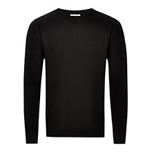 Buy HYMN Francis Crew Neck Jumper, Black Online at johnlewis.com