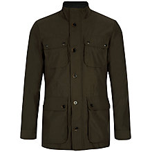 Buy Ted Baker Drogo Military Four Pocket Coat, Green Online at johnlewis.com