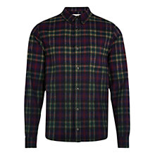 Buy HYMN Bruce Tartan Check Shirt, Olive Online at johnlewis.com