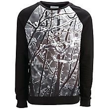 Buy Selected Homme Kilian Branches Crew Neck Jersey Top, Black Online at johnlewis.com