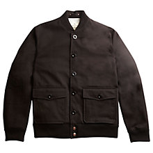 Buy Private White V.C. Cotton Bomber Jacket, Black Online at johnlewis.com