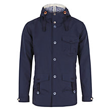 Buy HYMN Alfred Hooded Jacket, Navy Online at johnlewis.com