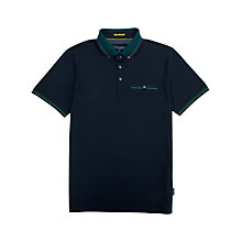 Buy Ted Baker Tirah Stripe Collar Polo Shirt, Navy Online at johnlewis.com