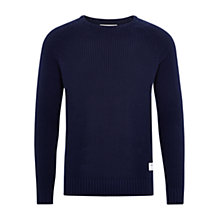 Buy HYMN Murray Crew Neck Jumper, Navy Online at johnlewis.com