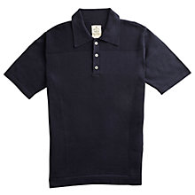 Buy Private White V.C. Waffle Short Sleeve Polo Sweatshirt Online at johnlewis.com