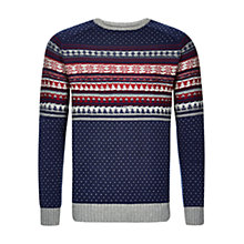 Buy HYMN McQueen Fair Isle Jumper, Navy Online at johnlewis.com