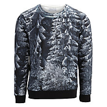 Buy Selected Homme Kilian Christmas Tree Jersey Top, Black Online at johnlewis.com
