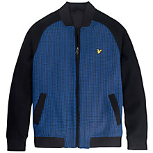 Buy Lyle & Scott Jacquard Bomber Jacket, True Black Online at johnlewis.com