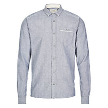 Buy HYMN Gibson Brushed Oxford Shirt, Blue Online at johnlewis.com