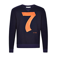 Buy HYMN Costner 7 Print Sweatshirt, Navy Online at johnlewis.com