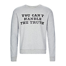 Buy HYMN Jack Truth Quote Sweatshirt, Grey Marl Online at johnlewis.com