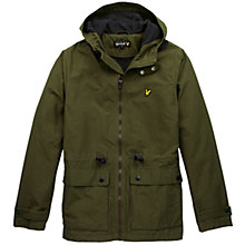 Buy Lyle & Scott Microfleece Mountain Parka, Pine Green Online at johnlewis.com