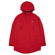 Buy Fred Perry Field Parka, Blood Red Online at johnlewis.com