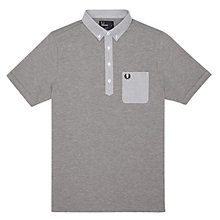 Buy Fred Perry Woven Trim Tape Polo Shirt Online at johnlewis.com