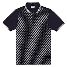 Buy Fred Perry Drake's Paisley Print Polo Shirt, Blue Granite Online at johnlewis.com